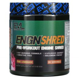 EVLution Nutrition, ENGN Shred, Pre-Workout Shred Engine, Pink Lemonade, 7.5 oz (213 g)