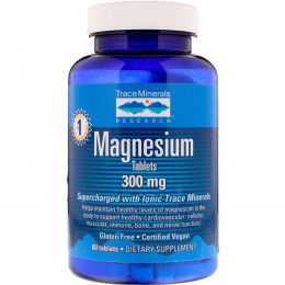 Trace Minerals Research, Magnesium, 300 mg, 60 Tablets