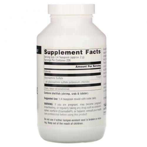 Source Naturals, Сульфат глюкозамина в порошке, без натрия, 16 унций (453.6 г)