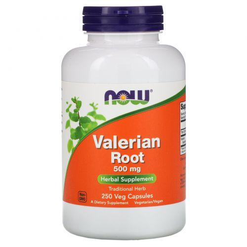 Now Foods, Корень валерианы, 500 мг, 250 капсул