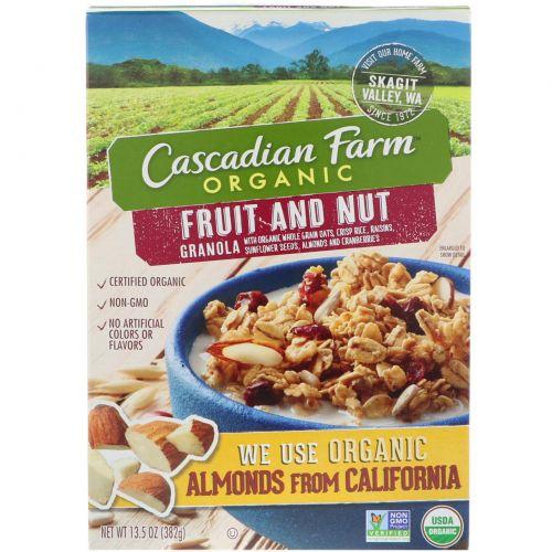 Cascadian Farm, Органика, Гранола с фруктами и орехами, 13,5 унций (382 г)