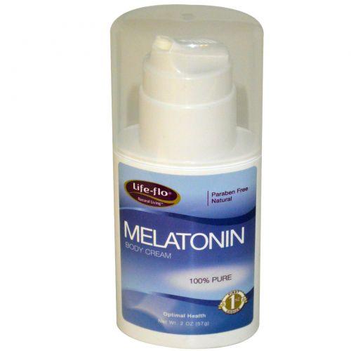 Life Flo Health, Крем для тела с мелатонином, 57 г