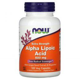 Now Foods, Альфа-липоевая кислота, 600 мг, 120 капсул