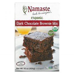 Namaste Foods, Organic, Dark Chocolate Brownie Mix, Gluten Free, 16 oz (454 g)
