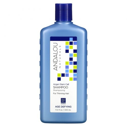 Andalou Naturals, Shampoo, Argan Stem Cell, For Thinning Hair, Age Defying, 11.5 fl oz (340 ml)