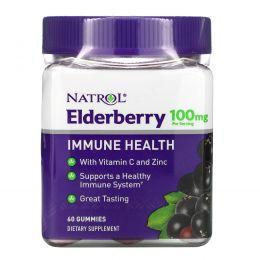 Natrol, бузина для поддержки иммунной системы, 100мг, 60жевательных конфет
