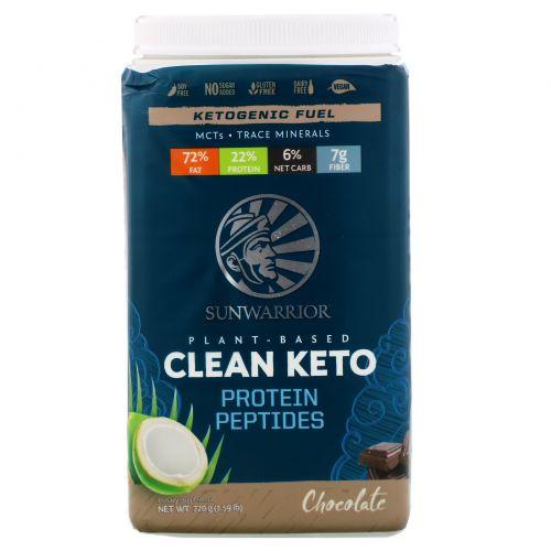 Sunwarrior, Plant-Based Clean Keto, Chocolate, 1.59 lb (720 g)
