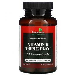 FutureBiotics, Витамин K Тройная Функция,  60 капсул