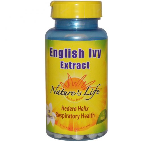Nature's Life, Экстракт обыкновенного плюща, 90 таблеток
