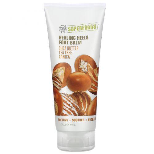 Petal Fresh, Pure, SuperFoods For Feet, Healing Heels Softening Foot Balm, Shea Butter, Tea Tree & Arnica, 7 fl oz (200 ml)