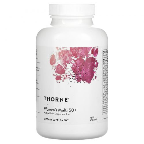 Thorne Research, мультивитамины для женщин старше 50лет, 180капсул