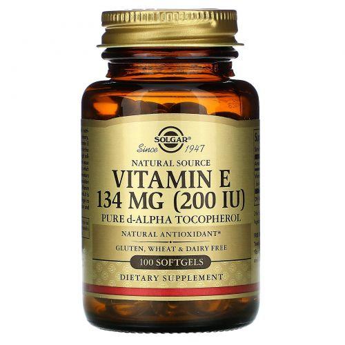 Solgar, Витамин Е 100 гелевых капсул