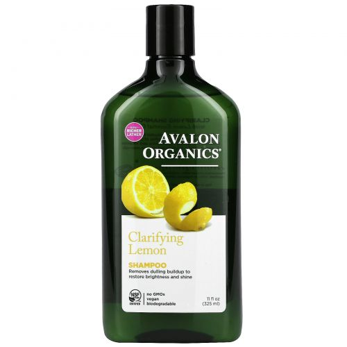 Avalon Organics, Шампунь, Clarifying Lemon, 325 мл