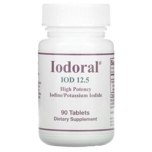 Optimox Corporation, Йодорал, йод/калиевый йод, 90 таблеток