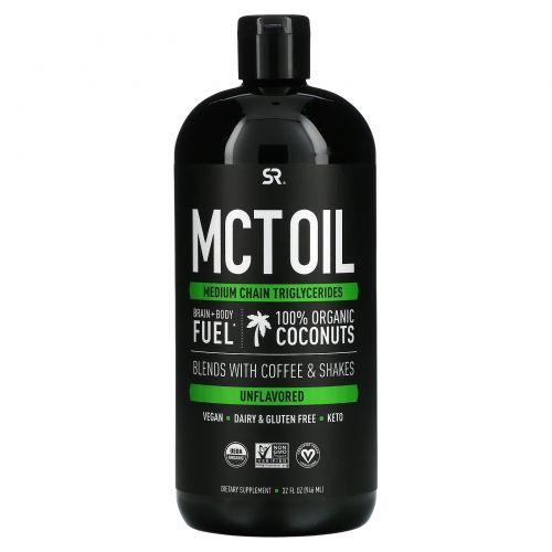 Sports Research, Масло со среднецепочечными триглицеридами (MCT), без ароматизаторов, 32 жидких унции (946 мл)