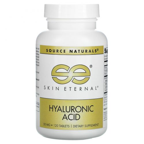 Source Naturals, Вечная молодость кожи, Гиалуроновя кислота, 50 мг, 120 таблеток
