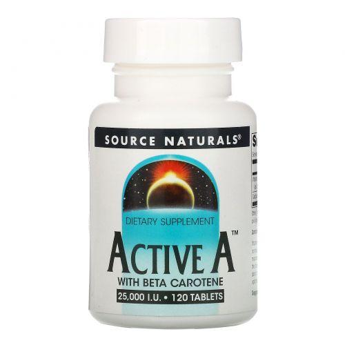 Source Naturals, Active A, 25,000 IU, 120 Таблеток