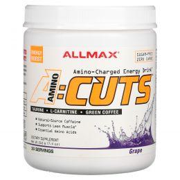 ALLMAX Nutrition, AMINOCUTS, похудение аминокислоты с разветвленной цепью+незаменимые аминокислоты, таурин, линолевая кислота с сопряженными двойными связями, зеленый кофе, дикий виноград, 210 г