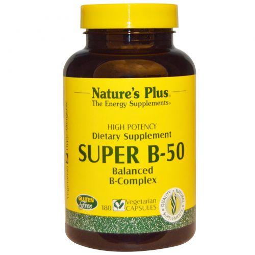 Nature's Plus, Супер В-50, 180 растительных капсул