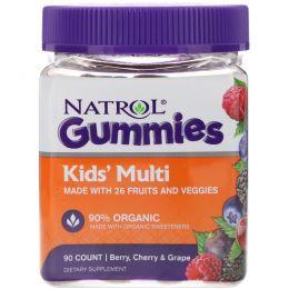 Natrol, Gummies, Kids' Multi, Berry, Cherry & Grape, 90 Count