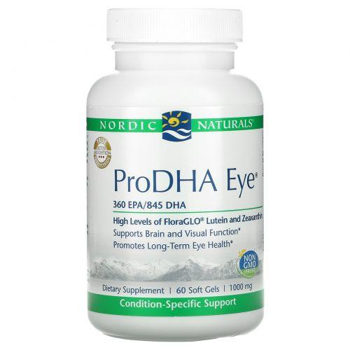 """Nordic Naturals Professional, """"ПроДГК глазной"""", пищевая добавка с ДГК (DHA) для глаз, 1000 мг, 60 мягких желатиновых капсул с жидкостью"""