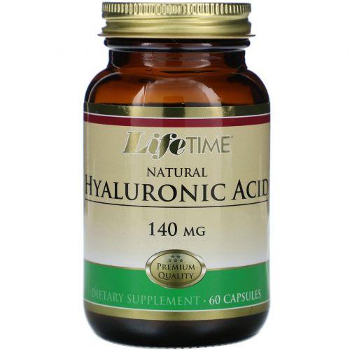LifeTime Vitamins, Натуральная гиалуроновая кислота, 140 мг, 60 капсул