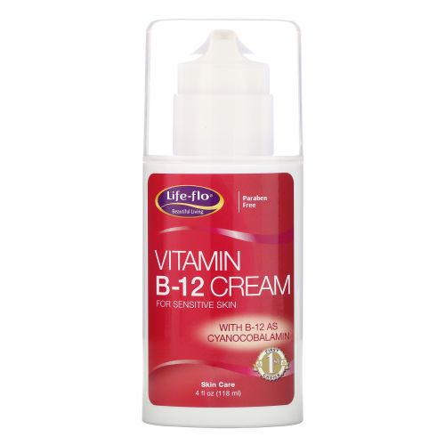Life Flo Health, Крем с витамином B-12, 4 унции (113,4 г)