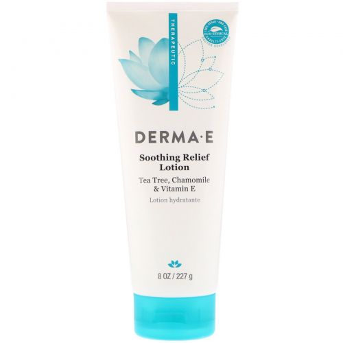 Derma E, Soothing Relief Lotion, Tea Tree, Chamomile & Vitamin E, 8 oz (227 g)