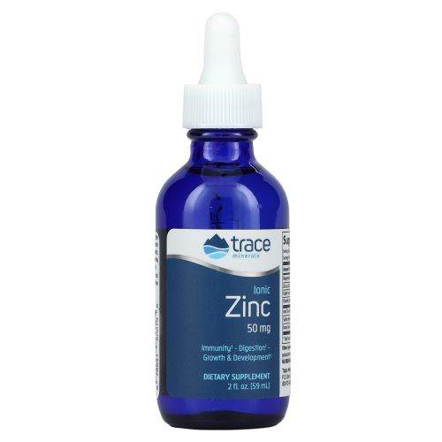 Trace Minerals Research, Ликикминс, ионный цинк, 50 мг, 2 жидк. унц. (59 мл)