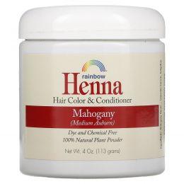 Rainbow Research, Краска для волос и кондиционер из хны, Персидское красное дерево (средне-рыжий), 4 унции (113 г), в форме порошка