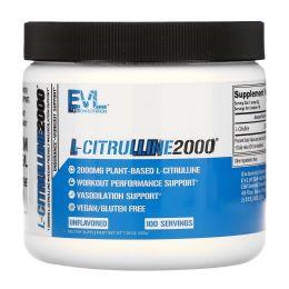 EVLution Nutrition, L-цитруллин 2000, 7,1 унции (200 г)