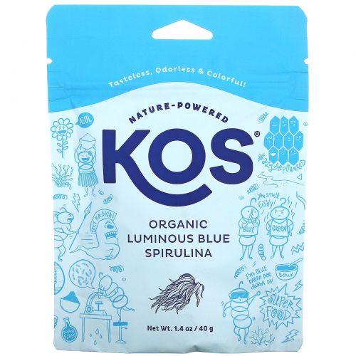 KOS, Organic Luminous Blue Spirulina Powder, 1.4 oz (40 g)