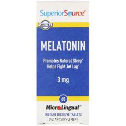 Superior Source, Мелатонин, 3 мг, 60 таблеток