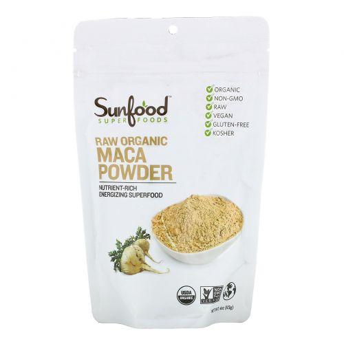 Sunfood, Superfoods, Raw Organic Maca Powder, 4 oz (113 g)