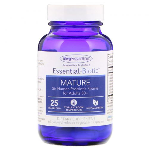 Allergy Research Group, Essential-Biotic, Mature, 60 Delayed-Release Vegetarian Capsules