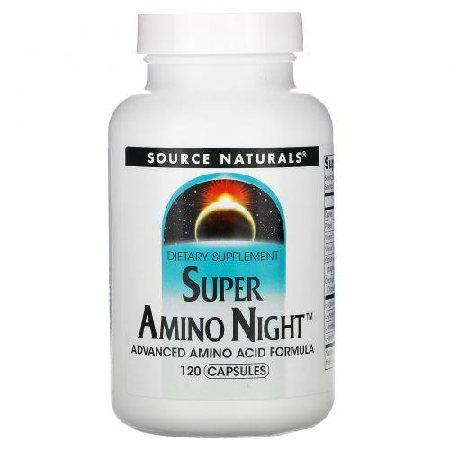 Source Naturals, Супер Амино Ночь, 120 капсул