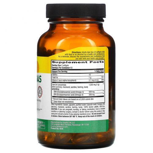 Country Life, Ultra Omegas DHA / EPA (ДГК / ЭПК), 120 желатиновых капсул