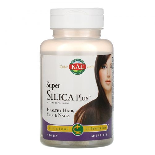 KAL, Super Silica Plus, 60 Tablets