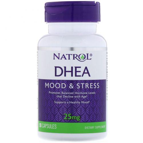 Natrol, ДГЭА, 25 мг, 90 капсул