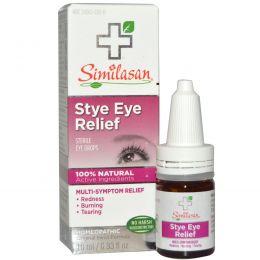 Similasan, Stye Eye Relief, стерильные глазные капли, 0,33 жидкой унции (10 мл)