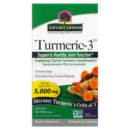 Nature's Answer, Куркума-3, 5000 мг, 90 растительных капсул