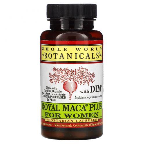 Whole World Botanicals, Королевская мака плюс для женщин, 500 мг, 90 вегетарианских капсул