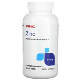 GNC, Zinc, 50 mg, 250 Vegetarian Tablets