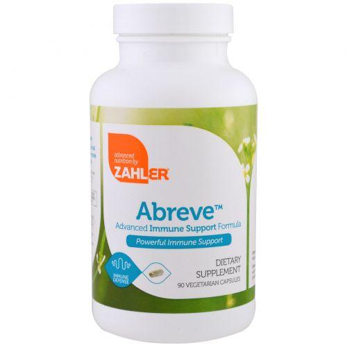 Zahler, Abreve, Поддержка иммунитета, 90 вегетарианских капсул