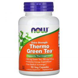 Now Foods, Зеленый термо чай, 90 вегетарианских капсул
