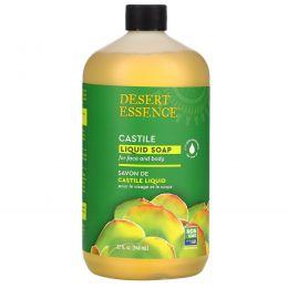 Desert Essence, Кастильское жидкое мыло с экологически чистым маслом чайного дерева, 32 жидких унции (960 мл)