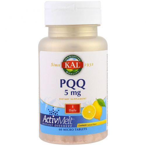 KAL, PQQ, Lemon, 5 mg , 60 Micro Tablets
