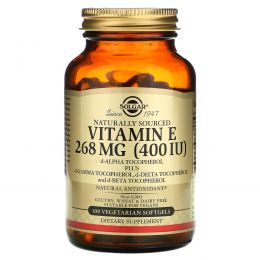 Solgar, Vitamin E, 400 IU, 100 Veg Softgels