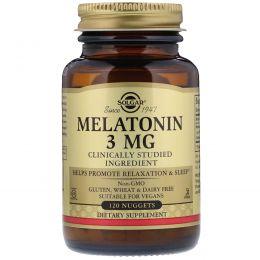 Solgar, Мелатонин, 3 мг, 120 таблетов