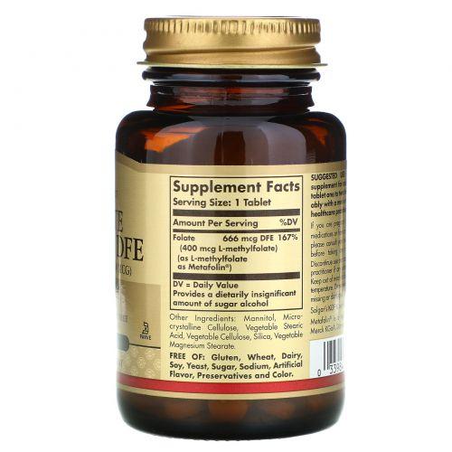 Solgar, Folate, 666 MCG DFE , 100 Tablets